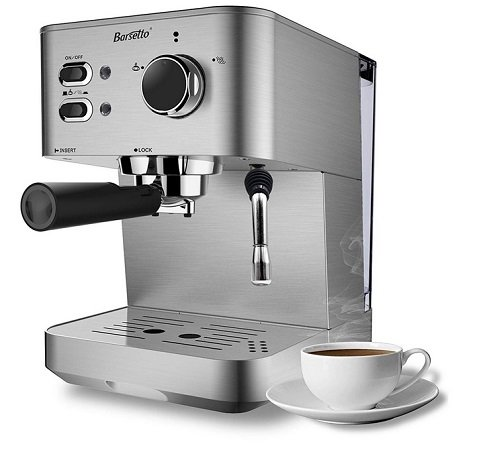 Barsetto Espresso Kaffeemaschine mit 15 Bar Brühdruck für 71,49€ inkl. VSK