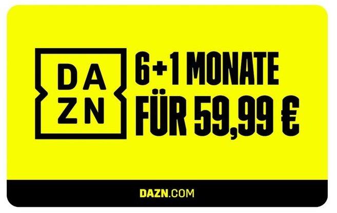 DAZN Gutschein – 6 Plus 1 Monate für 59,99€ (statt 84€) - Auch für Bestandskunden!