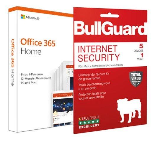 Microsoft Office 365 Home (6 Nutzer/1 Jahr) + BullGuard Internet Security für 51,98€ inkl. Versand