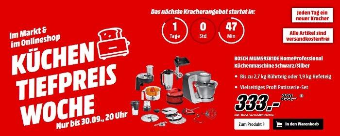Media Markt Küchen Tiefpreis Woche Zb Bosch Mum59s81de Für