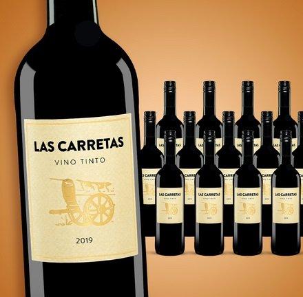 15 Flaschen Las Carretas 2019 Goldprämierter spanischer Rotwein für 40,89€ (statt 75€) - Newsletter Gutschein!