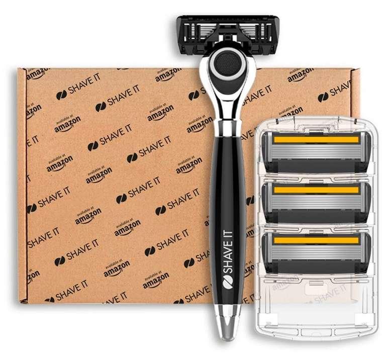 Shave It Grand -  6-Klingen-Rasierer mit Griff und 4 Klingenköpfen für 3,64€ mit Primeversand