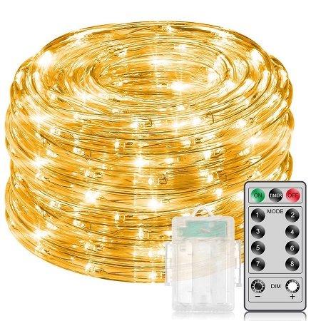 Minger 10M Lichterkette mit 100 LEDs & Fernbedienung für 6,99€ mit Prime