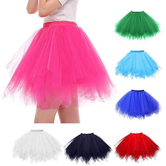 Uribaky Damen Tüllrock in über 30 Farben ab 5,40€ inkl. Versand