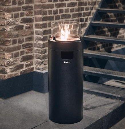 Enders Gas-Feuerstelle Nova LED M Schwarz Ø 36 x 88 cm für 146,21€ (statt 163€)