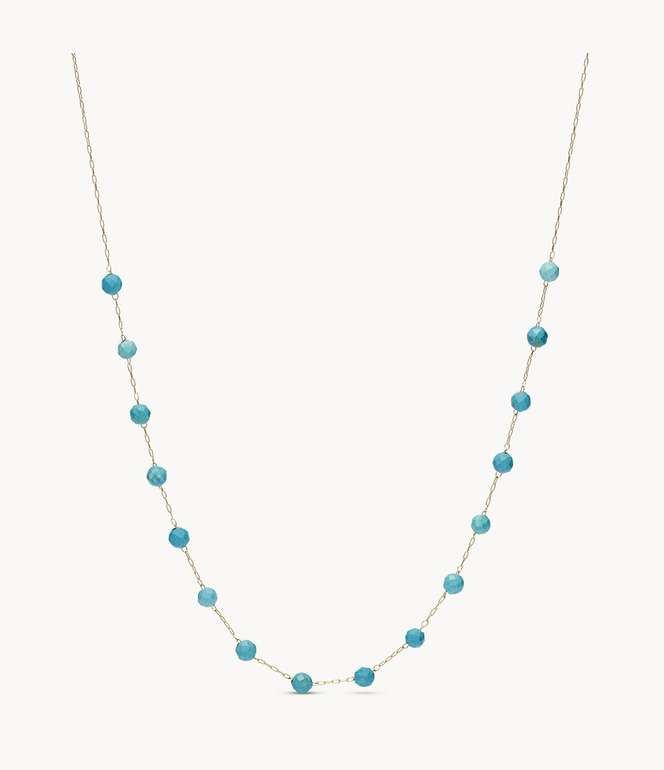 Fossil Halskette Tranquil Summer Edelstahl in Türkis für 15,20€ inkl. Versand (statt 39€)