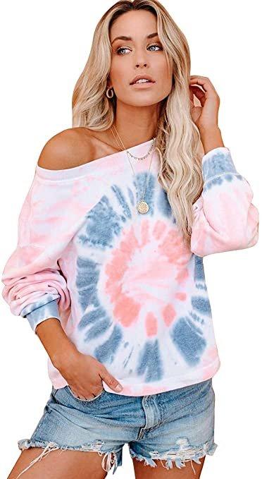 Efofei verschiedene Damen Tie-Dye Sweatshirts für je 9,99€ inkl. Prime Versand (statt 17€)
