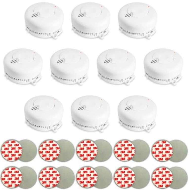 10er Set Angeleye Rauchmelder inkl. AAA Batterien & Magnethalter für 19,90€ inkl. Versand