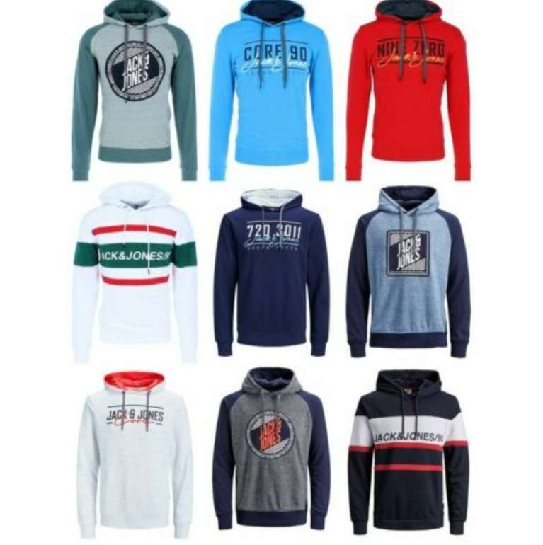 Jack & Jones Kapuzenpullover / Hoodies (versch. Modelle) bis XXL für je 19,99€