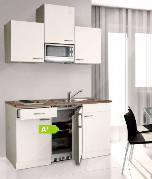 Respekta Küchenzeile KB150WWMI (150cm Breite, Weiß) für 444,99€ inkl. Versand