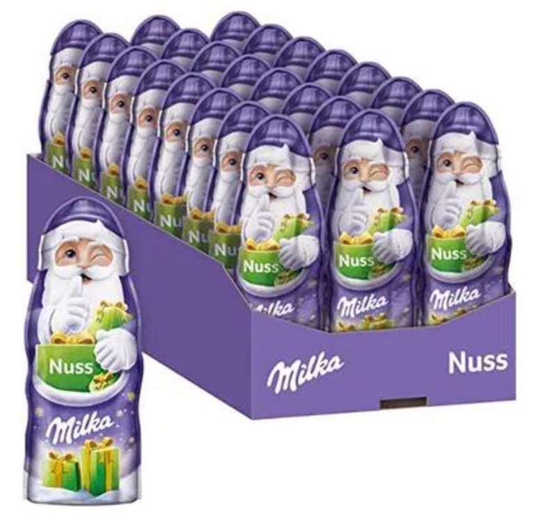 24er Pack Milka Weihnachtsmänner Nuss (je 45g) - Zartschmelzende Schokolade mit Haselnüssen für 9,99€ (Prime)