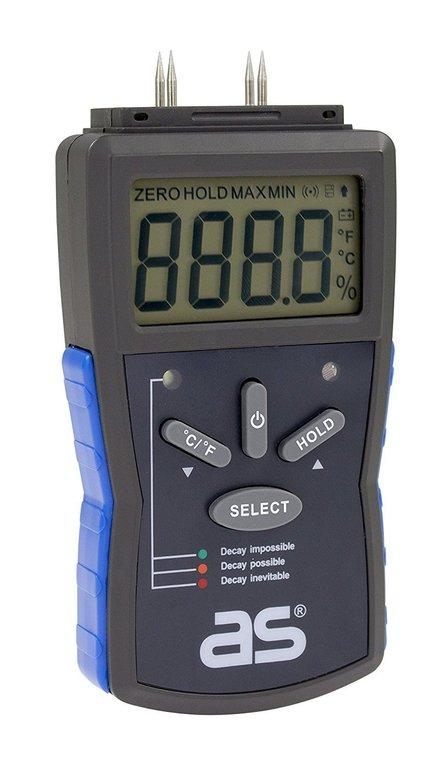 AS-Schwabe Feuchtigkeits-Messgerät z.B. Für Holz & Baustoffe 12,29€ mit Prime
