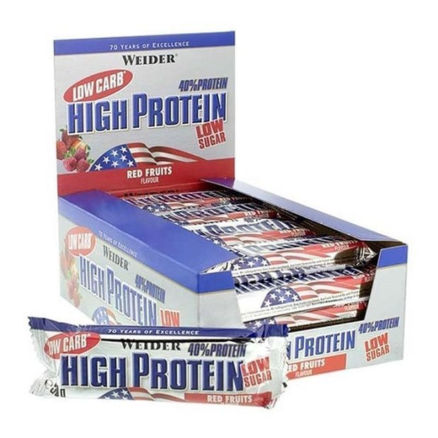 Weider Low Carb High Protein Bar (20x 100g, MHD 30.12.2018) für 19,99€