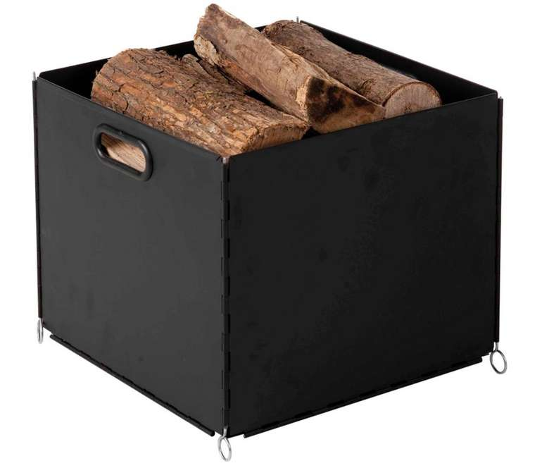 Alpertec Holzkorb in schwarz für 14,51€ inkl. Versand (statt 28€)