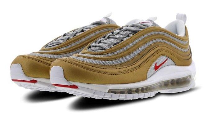 Nike Air Max 97 Herren Sneaker (Metallic Gold-University / Ale Brown) nur 97,49€