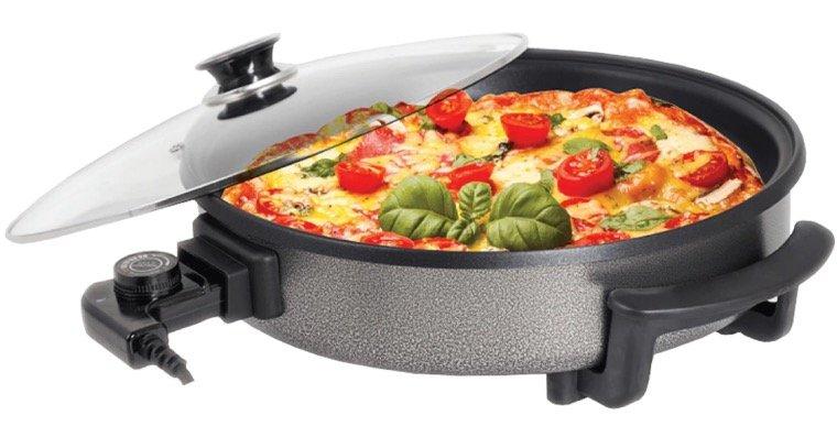 Zilan elektrische Pizzapfanne (32cm, 1500W) für 49,99€ inkl. Versand (statt 60€)