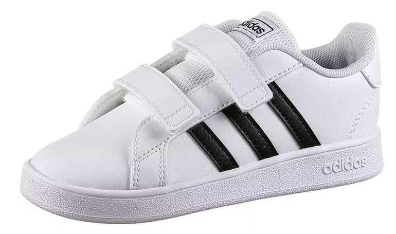 Adidas Grand Court Kinder Sneaker (Größe 18 bis 26) für je 21,76€ inkl. Versand (statt 28€)