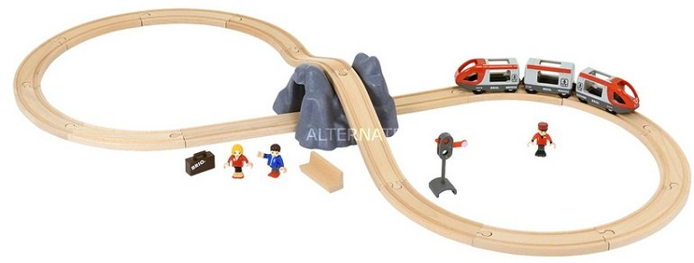 BRIO 33773 World Eisenbahn Starter Set A