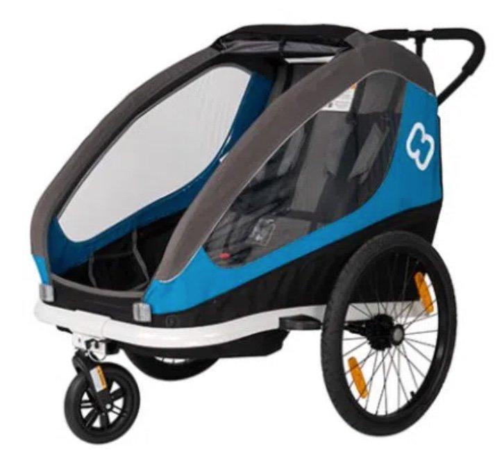 Hamax Traveller Kinderfahrradanhänger in Petrol Blue/Grey für 218,24€ inkl. Versand (statt 250€)