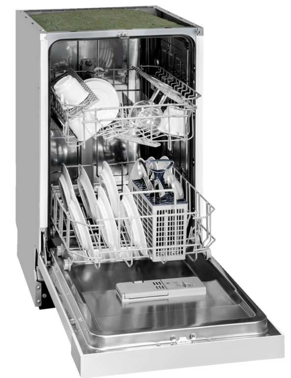Exquisit EGSP 309-7 E/B teilintegrierter Geschirrspüler A++ in weiß für 229€ inkl. Versand (statt 267€)