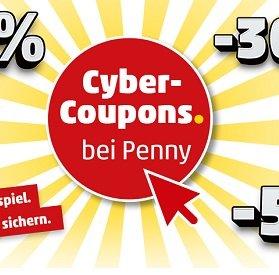 Penny: Bis zu 50% Rabatt im Online Shop dank Cyber Coupons (E-Mail notwendig)