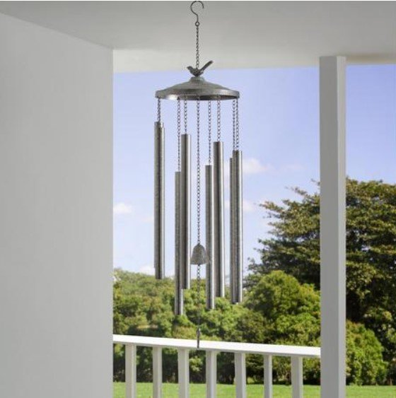 "Windspiel ""Kieron"" in Silberfarben (ca.119cm) für 28,37€ inkl. Versand (statt 46€)"