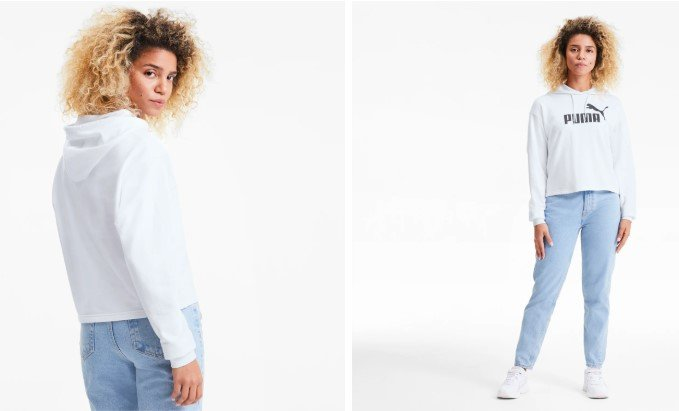 Essentials+-Damen-Cropped-Hoodie