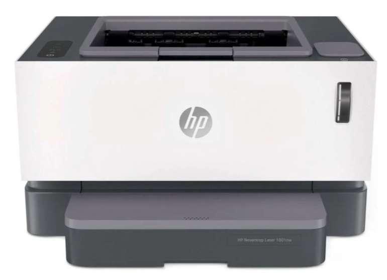 HP Neverstop Laser 1001nw Drucker mit Nachfülltank (A4, monochrom, 20S/min, 150 Blatt, WLAN, LAN, USB) für 153,95€