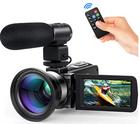Andoer 4K Digital Videokamera (24MP, WiFi, 3,0 Zoll Touchscreen uvm.) für 81,59€
