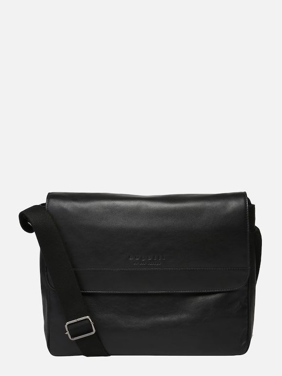 Bugatti Herren Tasche 'Corso Messenger' in schwarz für 56,25€ inkl. VSK (statt 94€)
