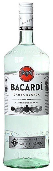 Bacardi Carta Blanca Rum (1x 1,5 Liter) für 14,99€ mit Prime!