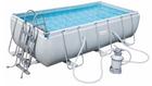 Bestway Power Steel Rectangular Frame Pool Set (404 x 201 x 100cm) für 355,45€