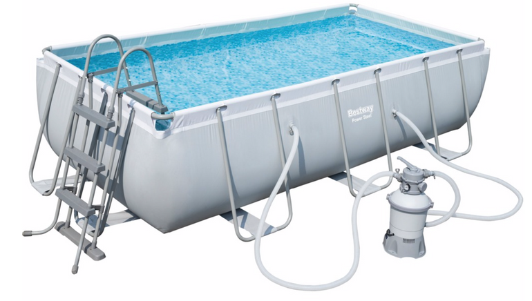 Bestway Power Steel Rectangular Frame Pool Set (404 x 201 x 100cm) für 355,45€
