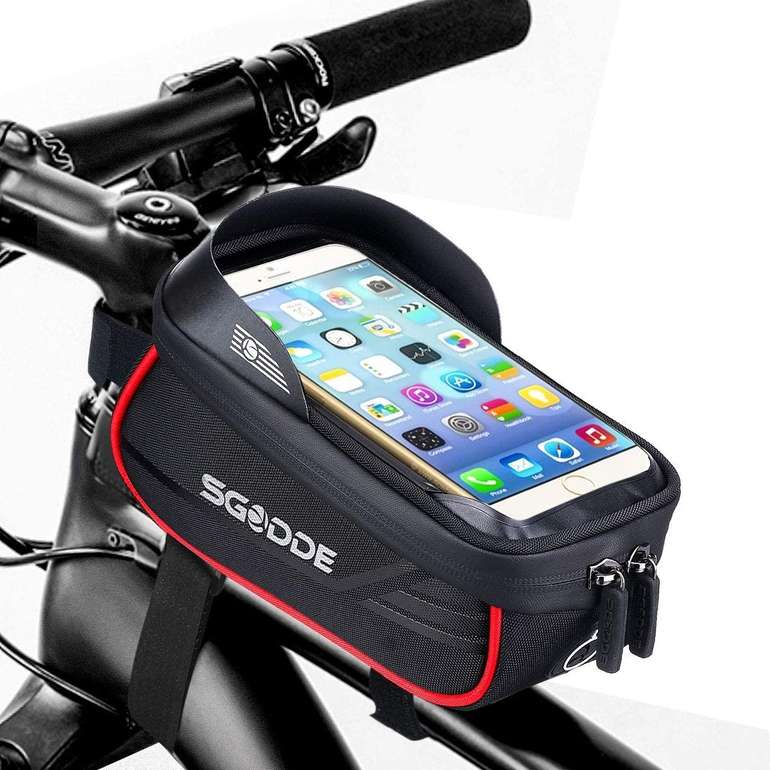Sgodde Fahrrad Rahmentasche mit Smartphone Halterung für 12,59€ inkl. Prime Versand (statt 21€)