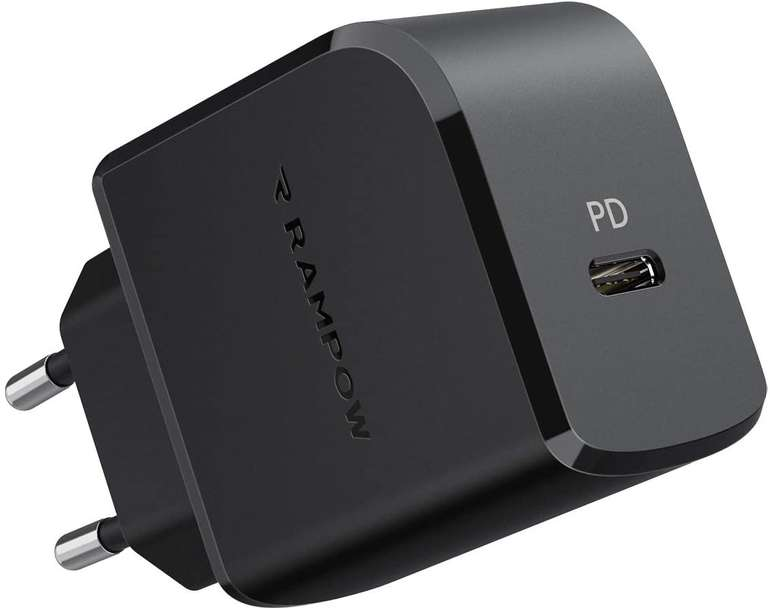 Rampow 18W USB C Ladegerät (PD 3.0, QC 3.0) für 6,59€ inkl. Prime Versand (statt 11€)