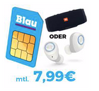 Blau Allnet L mit 3GB LTE für 7,99€ mtl. / 5GB LTE für 12,99€ + JBL Free X (39€)