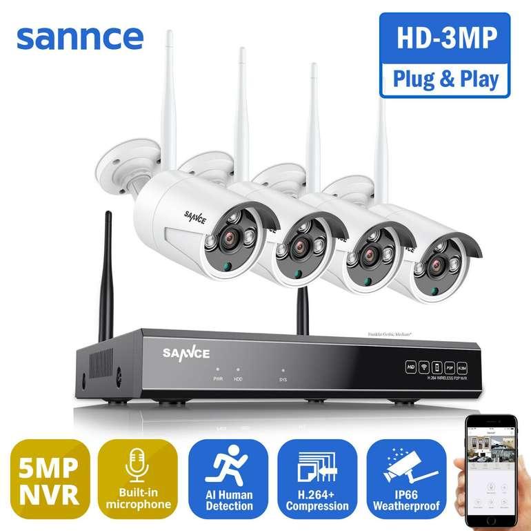 Sannce 4er Pack WLAN IP Überwachungskameras (8CH, Mikrofon) für 130,04€ inkl. Versand (statt 153€)