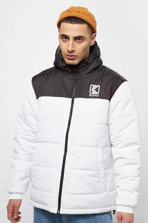 "Karl Kani ""OG Hooded Block"" Puffer Jacke in weiß/schwarz für 54,99€inkl. Versand (statt 107€)"