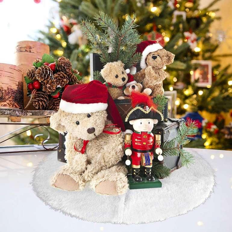 Hengda Plüsch Weihnachtsbaumdecke (2 Größen) ab 8,39€ inkl. Versand (statt 12€)