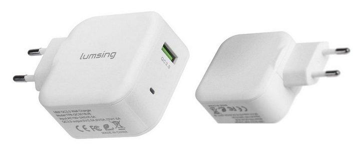 Lumsing - 3.0 Ladeadapter mit Quick Charge Funktion für 9,49€ mit Primeversand