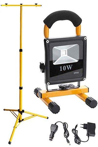 2x Hengda LED 10W Flutlicht + Teleskop-Stativ für 25,19€ inkl. Versand (statt 36€)