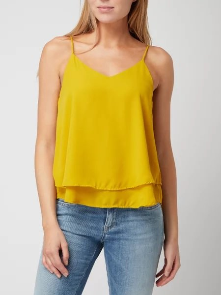 Pieces Rückenfreies Cami Top in Gelb (Größe M) für 5,09€ inkl. Versand (statt 25€)