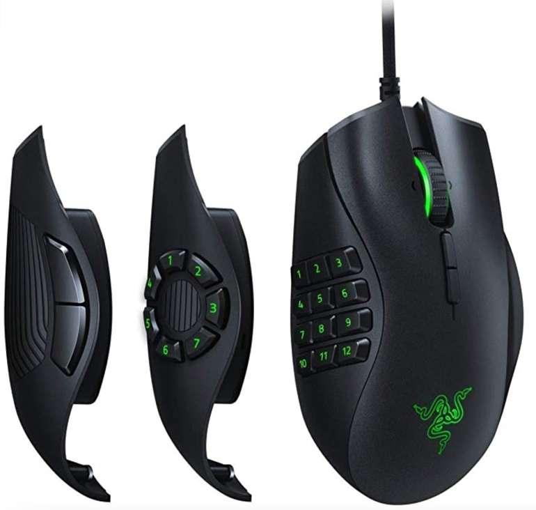 Razer Naga Trinity - Modulare Gaming Maus (16K DPI, Optischer 5G-Sensor, programmierbare Tasten) für 66,33€