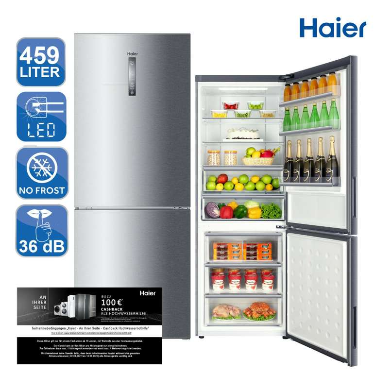 Haier C3FE844CGJ Kühl-Gefrierkombination (459L, No Frost) für 549,90€ inkl. Versand (statt 640€)