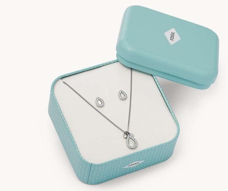 Fossil Set Muttertag (Halskette & Ohrringe) für 45,50€ inkl. Versand (statt 65€)