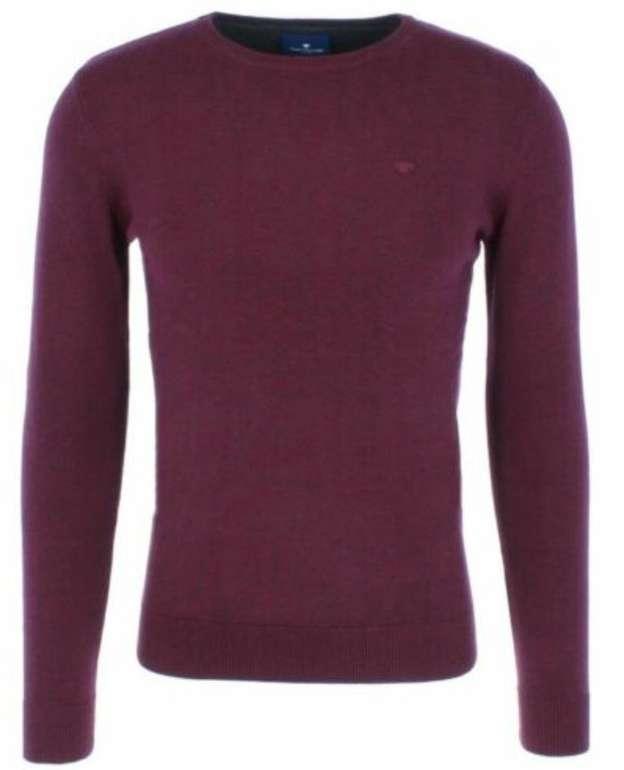 Tom Tailor Herren Basic Sweater mit Rundhals Ausschnitt (100% Baumwolle) für je 19,99€ inkl. Versand