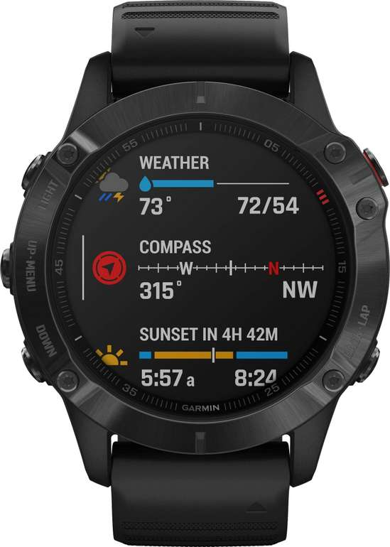 Garmin Fenix 6 Pro Metall Silikon Smartwatch für 467,99€ inkl. Versand (statt 499€)