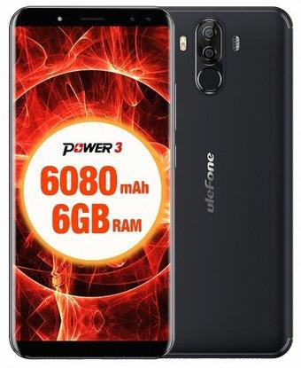 """Ulefone Power 3 - 6"""" Smartphone mit 6080mAh, 64GB Speicher & 6GB RAM für 170,99€"""