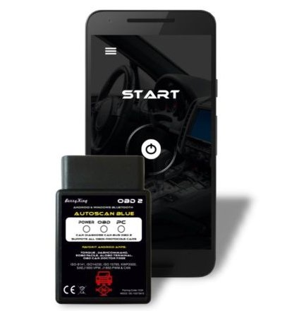 BerryKing Autoscan Blue - OBD 2 KFZ Auto Bluetooth Diagnosegerät für 9,99€
