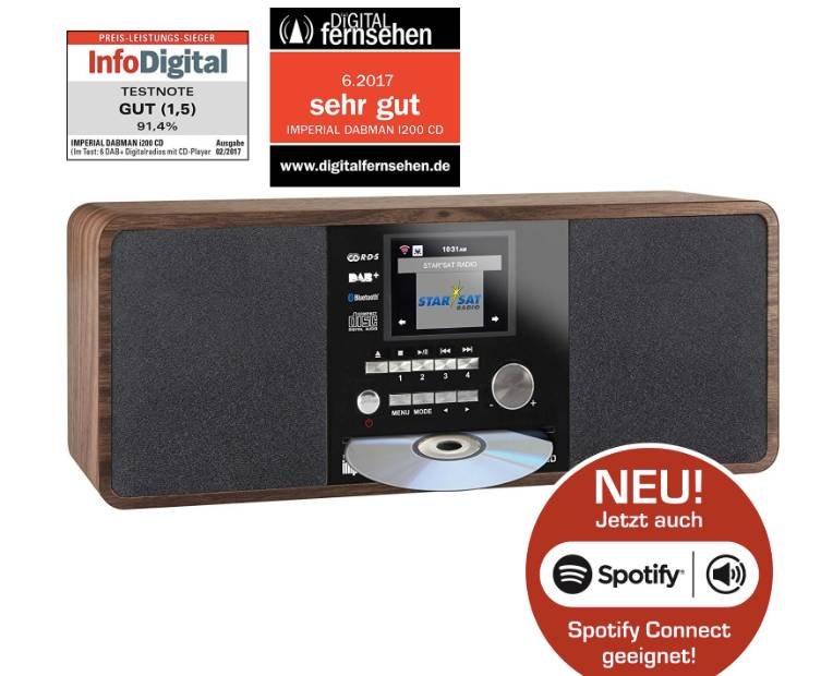 DABMAN i200 CD Internet & DAB+ Stereo Radio mit Spotify Connect für 129,99€